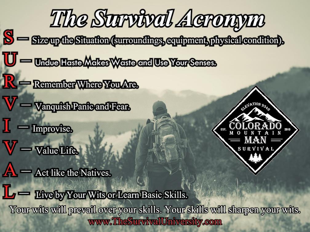 The Survival Acronym