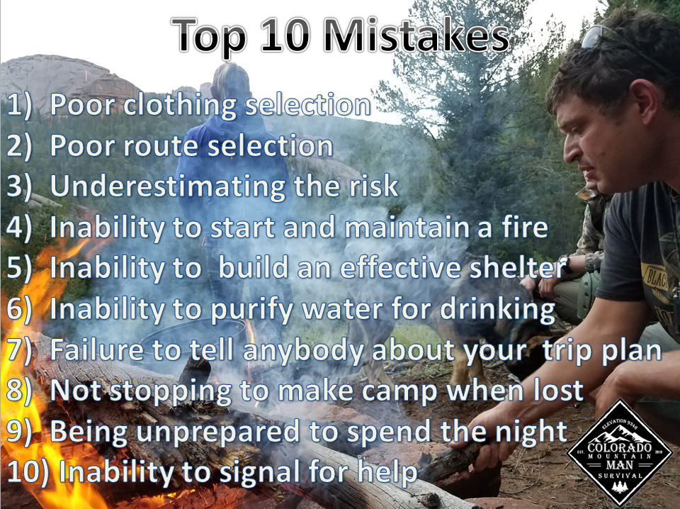 TOP 10 MISTAKES IN THE BACKCOUNTRY