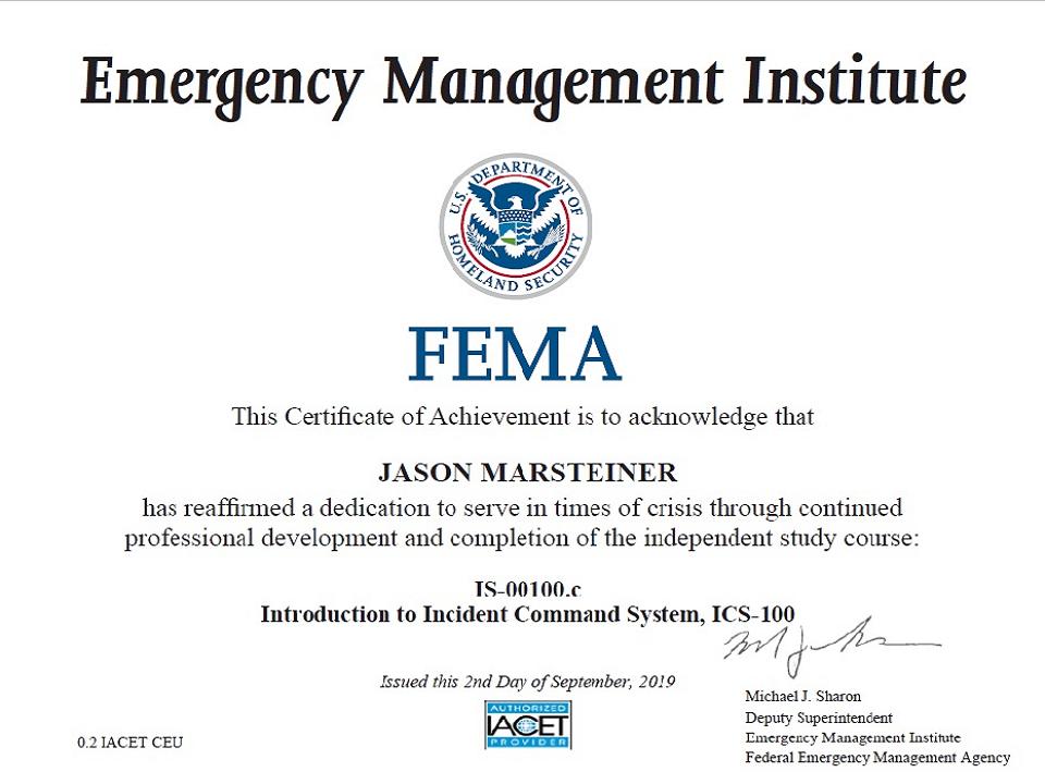 FEMA IS-00100c