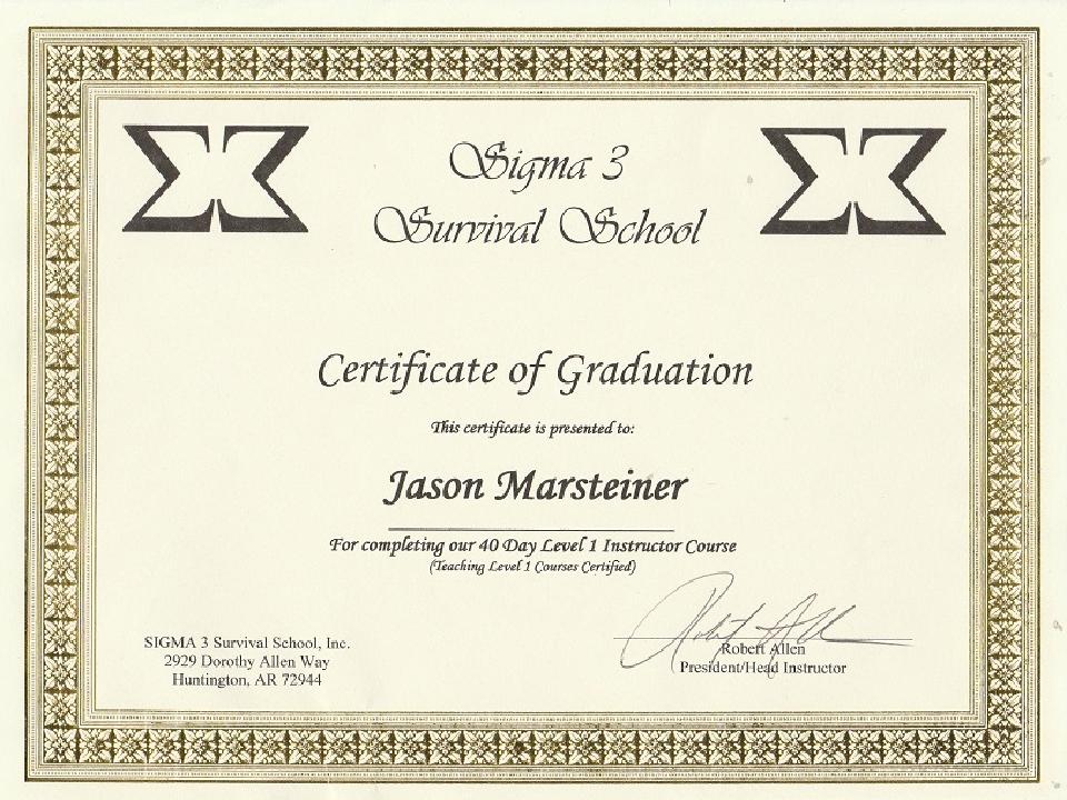 Sigma 3 Level 2 Instructor
