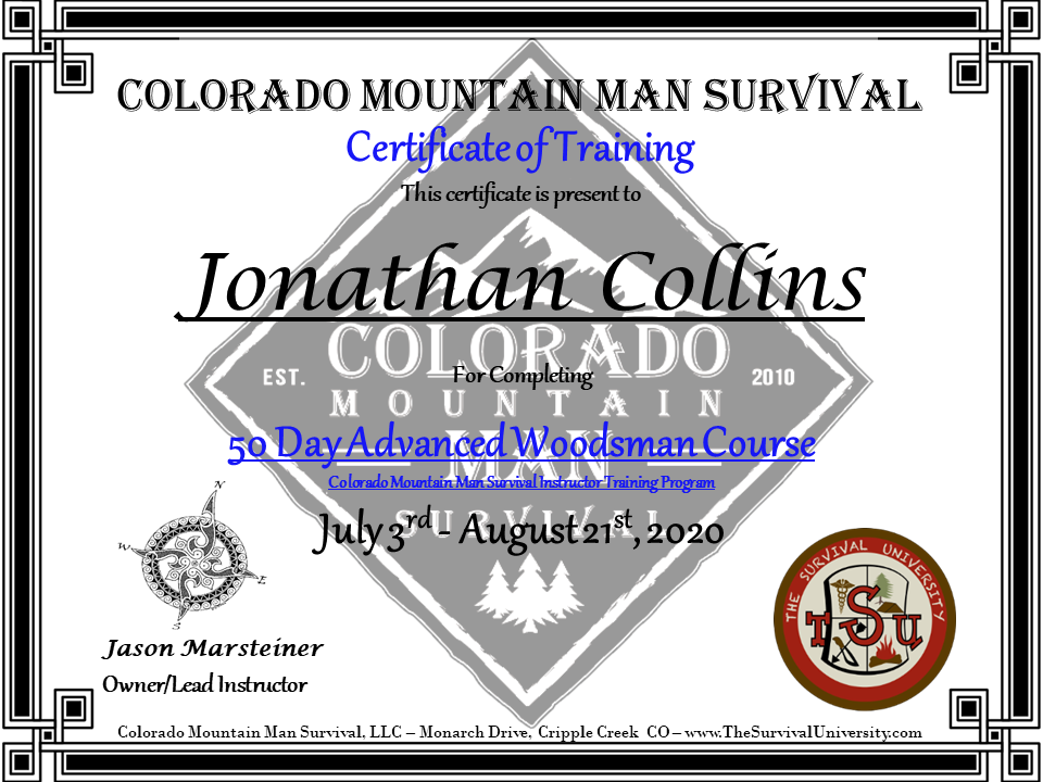 Jonathan Collins Cert